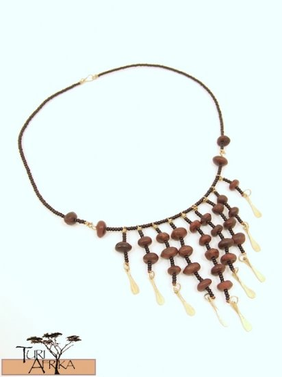 Product ID: 5     Brass Necklace W/ Seeds