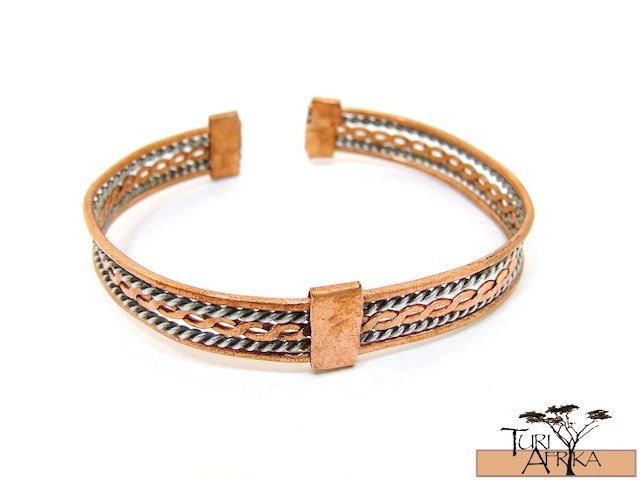 Product ID: 85     2 Color Copper Wire Flat Designed Bracelet