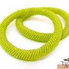 Product ID: 93     Round Beaded Flexible Bracelets (Light Green metallic) SET OF 2