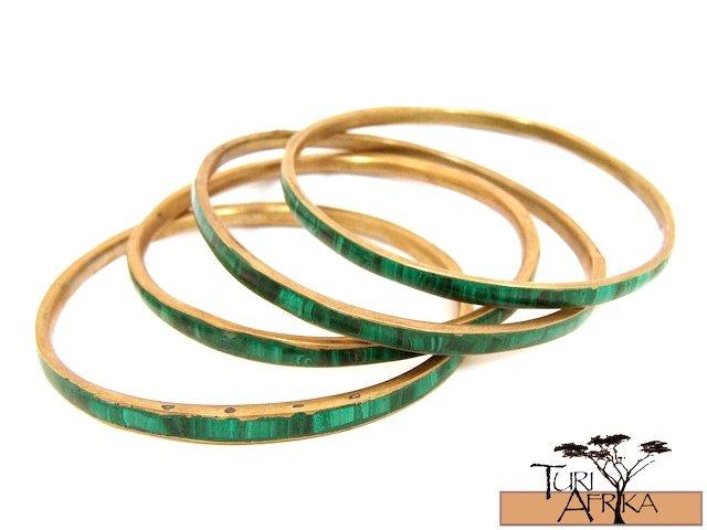 Product ID: 99     Brass & Malachite Bracelets EACH