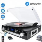 All In One Retro Vinyl Record Player Turntable Music Centre Cassette Bluetooth