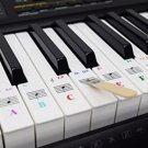 QMG Piano Key Stickers For 49, 54 Or 61 KEY Music Keyboard + eBook Lessons Kid