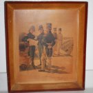 Antique H.A.Ogden American Military Litho Tin Wall Picture Tray Officer 1816-21
