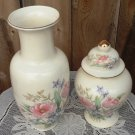 Vintage Japanese Fine China Floral Vase Ginger Jar Japan