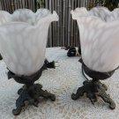 2 Vintage Underwriters Laboratories Cupid Cherub Portable Table Night Stand Lamp