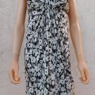 BCBG Dress New MAX AZRIA Black White Floral Empire Waist sz S