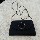 Vintage ANDE Black Evening Bag Swarovski Crystal Purse