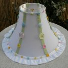 Table Lamp Shade Buttons White Green Yellow Pink
