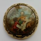 Antique Vintage French Celluloid Powder Compact Box France