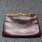 Vintage ETRA Lizard Croco Leather Evening Clutch Bag