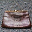 Vintage ETRA Lizard Croco Leather Evening Clutch Bag