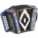 "New Russian Accordion ""Romashka"" 15x12-I, Palekh painting, Shuyskaya garmon"