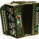 New Russian accordion Tula-301M 25x25-III with two straps. G-21. Tula accordion