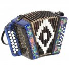 "New Accordion ""Souvenir"" 15x12-I,  Palekh painting, Shuyskaya garmon. Russia"