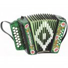 "New brand Accordion ""Daisy"" (Romashka in rus) 15x12-I, Palekh painting, Shuya accordion. Russia"
