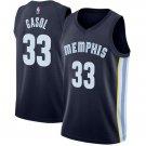 Memphis Grizzlies #33 Marc Gasol Road blue swingman basketball jersey