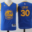 Youth Golden State Warriors 30# Stephen Curry Blue Basketball stitched jersey