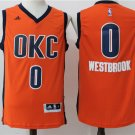 Oklahoma City Thunder 0# Russell Westbrook Orange 2017 Basketball Jersey