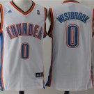 Men's new Oklahoma City Thunder #0 Russell Westbrook White Basketball Jersey