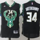 Men's Milwaukee Bucks #34 Giannis Antetokounmpo black basketball jersey