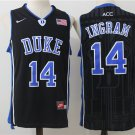 Men's Duke Blue Devils #14 Brandon Ingram Black Basketball Jersey