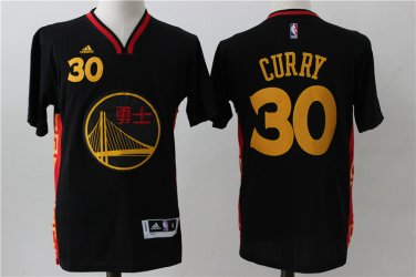 reputable site dee28 788cb Golden State Warriors 30 Stephen Curry Chinese New Year Basketball Jersey