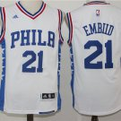Men's New Philadelphia 76ers #21 Joel Embiid white basketball jersey