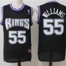 Men's Kings #55 Jason Williams black basketball jersey