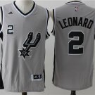 New Men's San Antonio Spurs #2 Kawhi Leonard basketball jersey gray