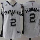 San Antonio Spurs 2 Kawhi Leonard White Basketball Jersey