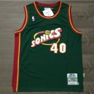 Men's Sonics #40 Shawn Kemp Men's green jersey