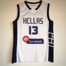 Men's Greece Team Hellas Giannis Antetokounmpo #13 White Basketball Jerseys