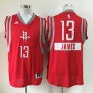 MENS  Rockets #13 James Harden Men's red basketball jersey