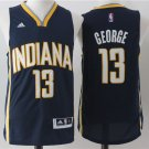 Men's Indiana Pacers #13 Paul George Jersey Basketball Black Jerseys