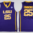 MENS  NEW LSU Tigers Ben Simmons #25 Swingman Basketball Purple Jersey S-XXL