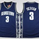 Men's Georgetown Hoyas Allen Iverson #3 Navy College Basketball Jerseys