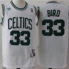 Men's Boston Celtics #33 Larry Bird basketball White jersey
