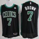 Mens,Boston Celtics #7 Jaylen Brown Swingman Basketball Jersey black
