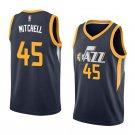 Mens,New Utah Jazz #45 Donovan mitchell swingman basketball jersey blue