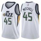 Mens, New Utah Jazz #45 Donovan mitchell swingman basketball jersey white