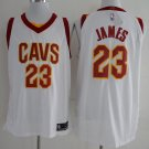 Mens, Cleveland Cavaliers 23# LeBron James white basketball stitched jersey