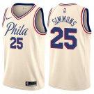 Mens  25 Ben Simmons Jersey Cream City Edition Philadelphia 76ers Fanatics