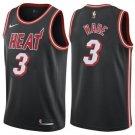 Mens   3 Dwyane Wade Jersey Black Miami Heat Jersey Swingman Fanatics version