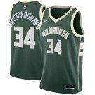 Mens 34 Giannis Antetokounmpo Jersey Green Milwaukee Bucks Swingman Fanatics