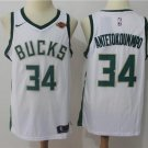Mens 34 Giannis Antetokounmpo Jersey White Milwaukee Bucks Fanatics