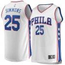 Mens 25 Ben Simmons Jersey White Philadelphia 76ers Fanatics