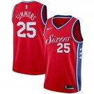 Mens  25 Ben Simmons Jersey Red Philadelphia 76ers Swingman Fanatics