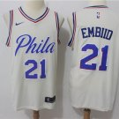 Men's Philadelphia 76ers #21 Joel Embiid White basketball STITCHED jersey