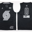 2018 all star Men's damian lillard Blazers jersey black