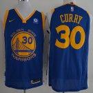 Men's Warriors 30 Stephen Curry Jersey blue
